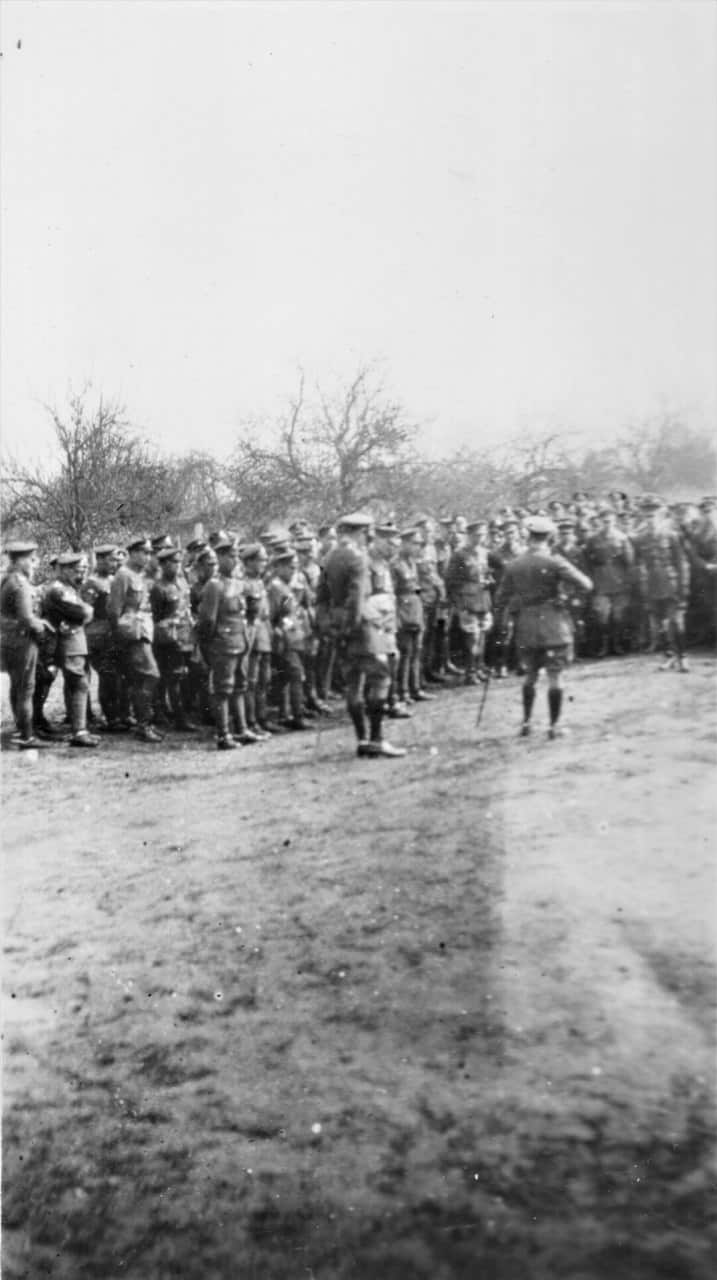7.-1919-April-General-Patterson-saying-Official-Farewell-to-RCHA